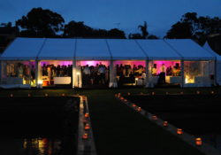 18m Clear Walled Marquee