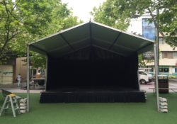 covered stage